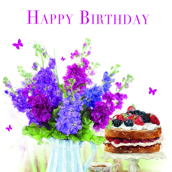 Pleasant Birthday Card Cake Flowers Oak Tree Homes Trust Funny Birthday Cards Online Fluifree Goldxyz