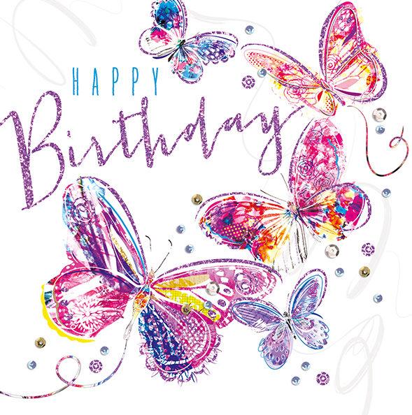 Birthday Card – Butterflies